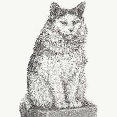 Artwork Cat on a pedestal
