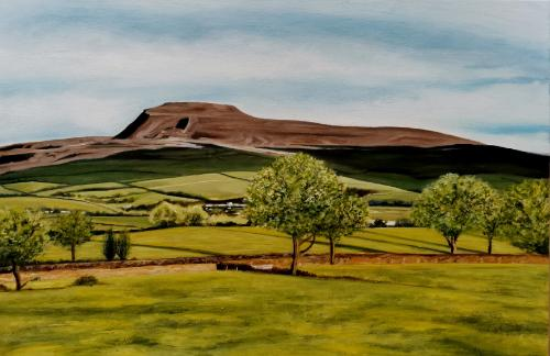 Ingleborough by Kyle - Use the 'Create Similar' button to commission an artist to create your own artwork.