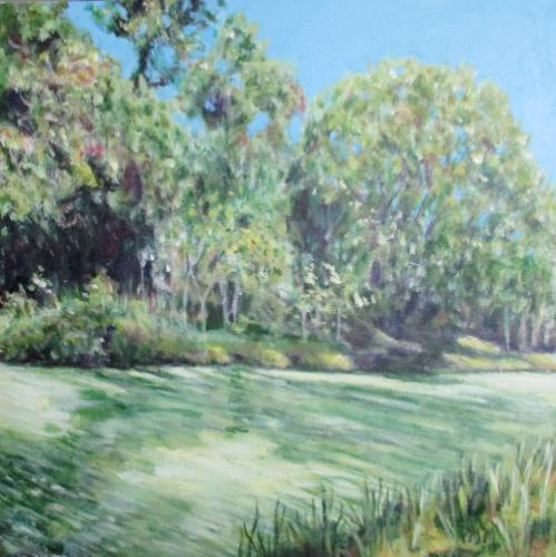 Canal du Midi by PamelaPaints - Use the 'Create Similar' button to commission an artist to create your own artwork.
