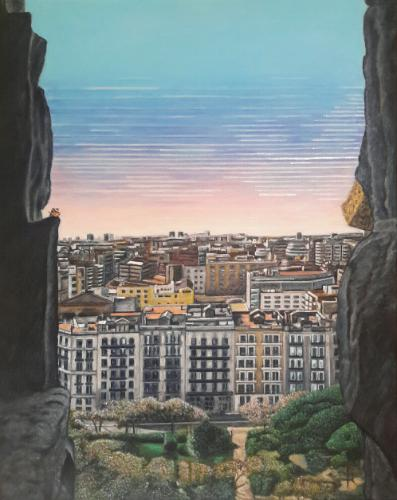 A View From Sagrada Familia (A Short Trip Away) by GerardArt - Use the 'Create Similar' button to commission an artist to create your own artwork.