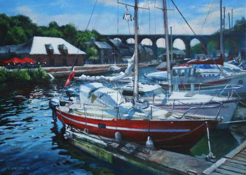 Dinan Mooring by KevinC - Use the 'Create Similar' button to commission an artist to create your own artwork.
