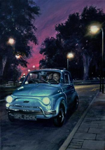 1971 Fiat 500 by KevinC - Use the 'Create Similar' button to commission an artist to create your own artwork.