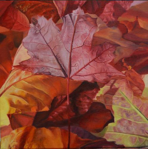 Artwork Red Leaf I