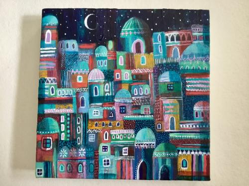 Mosaic City by Janice - Use the 'Create Similar' button to commission an artist to create your own artwork.