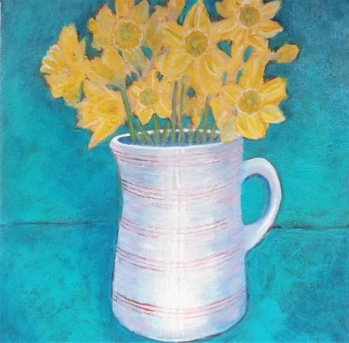 Artwork Vase of Sunshine