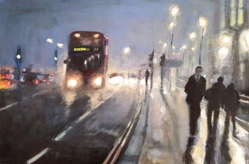 Artwork London Foggy Evening