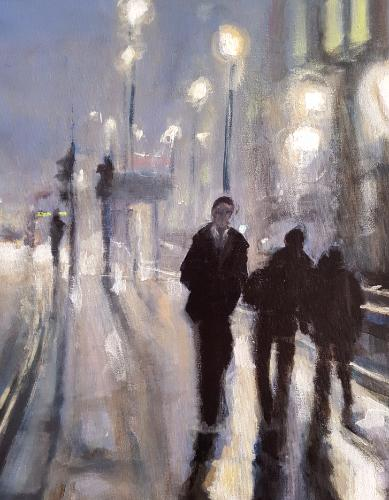 London Foggy Evening by artistmitch74 - Use the 'Create Similar' button to commission an artist to create your own artwork.