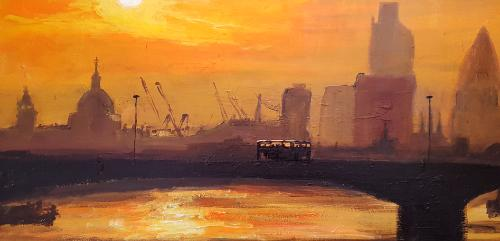 Artwork City of London Skyline Sunset
