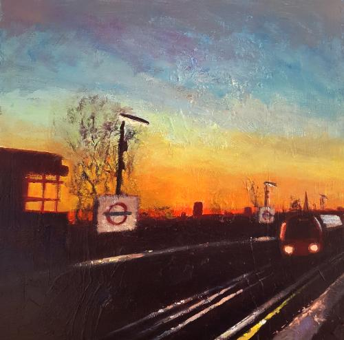 Artwork London Suburbia Dusk