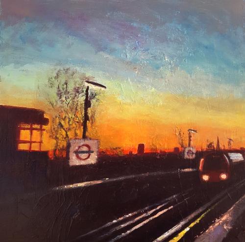 Artwork London Suburbia Dusk