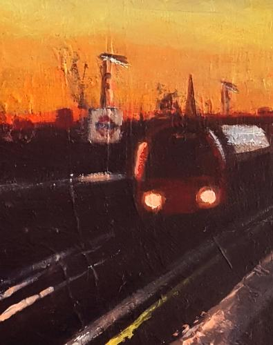 London Suburbia Dusk by artistmitch74 - Use the 'Create Similar' button to commission an artist to create your own artwork.