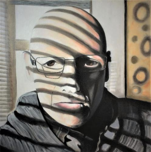 Self portrait in the window seat by MartinD - Use the 'Create Similar' button to commission an artist to create your own artwork.