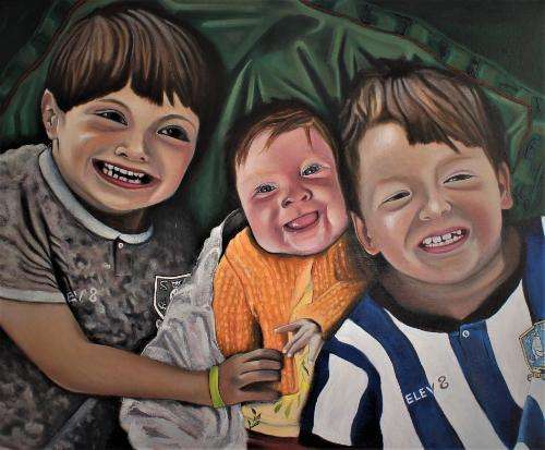 Artwork Michael, Alanna and Charlie