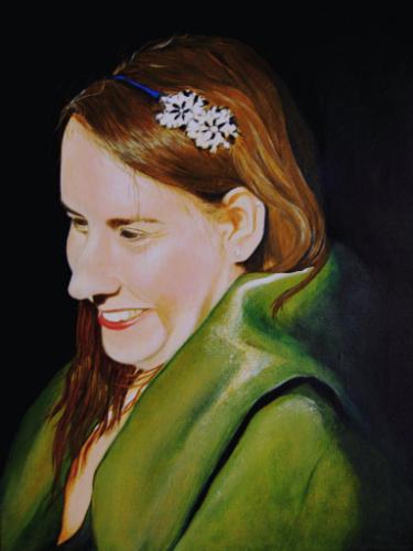 Artwork Lea with green shawl