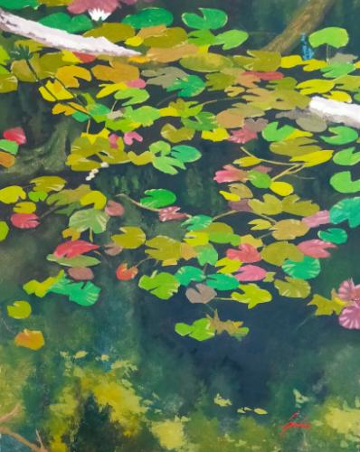 Artwork Beyond the lily pads