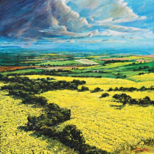 Artwork Rapeseed fields over the Vale