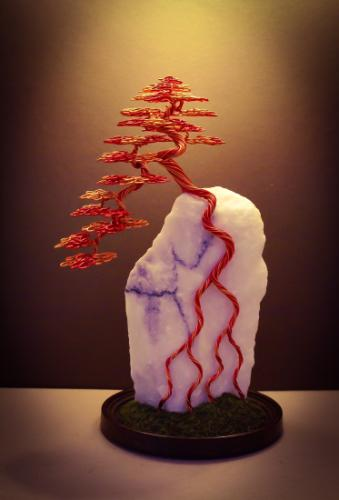 Artwork #25 - A red and orange cascade 'root over rock'