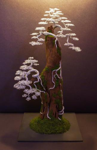 Artwork #27 - Silver trees cascading from a deadwood tower