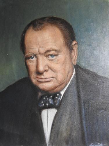 Artwork Portrait of Winston Churchill