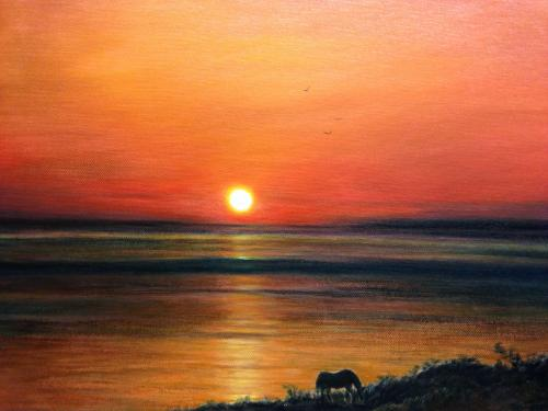 Artwork Sunset in Crete