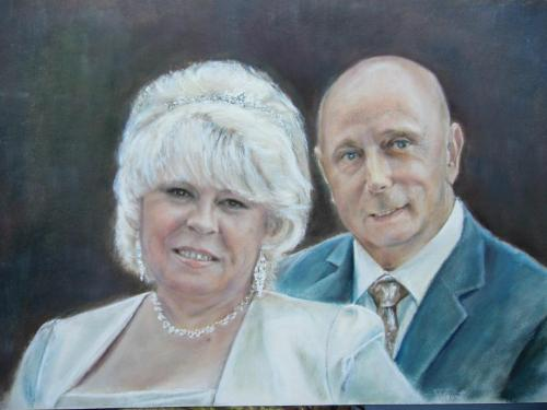 Artwork Wedding double portrait