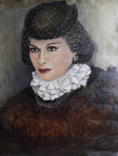 Artwork Portrait of Coco Chanel
