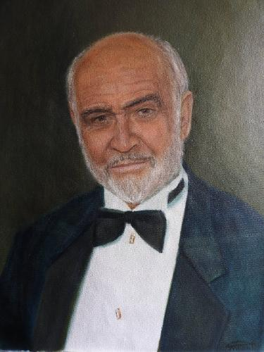 Artwork Portrait of Sean Connery