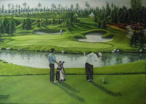 Artwork Golfers (sold)