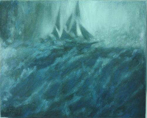 Artwork Storm. Ship from film 'In the heart of the Sea