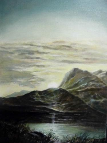 Artwork 'Sunset in Snowdonia' reproduction
