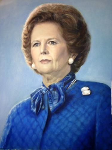 Artwork Portrait of Margaret Thatcher (sold)