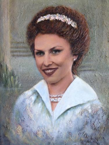 Artwork Portrait of lady in white (Sold)