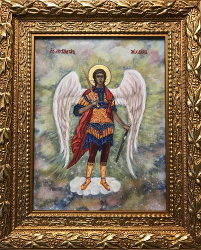 Artwork The Archangel Michael.Christian orthodox icon.
