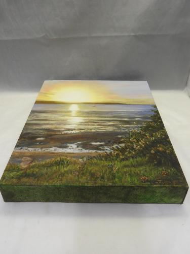 Pine sunset (Sold) by TatianaW - Use the 'Create Similar' button to commission an artist to create your own artwork.