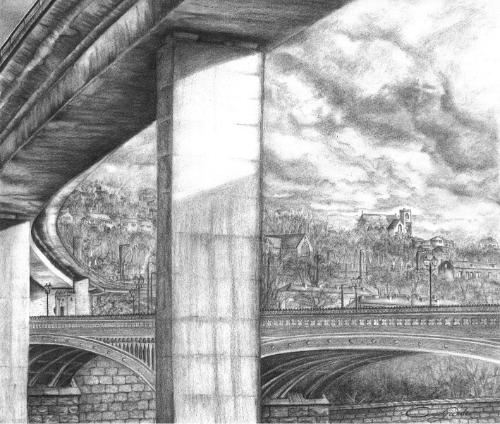 Artwork The North Bridge With Burdock Way Flyover Halifax