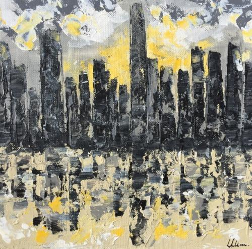 Sun Lit City by Lucy - Use the 'Create Similar' button to commission an artist to create your own artwork.