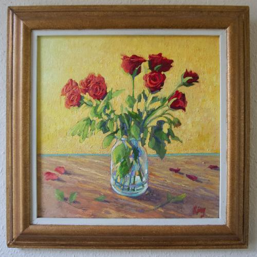 Red Roses by Brian - Use the 'Create Similar' button to commission an artist to create your own artwork.
