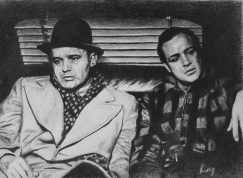 Artwork Rod Steiger and Marlon Brando