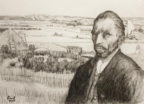 Artwork Van Gogh at La Crau