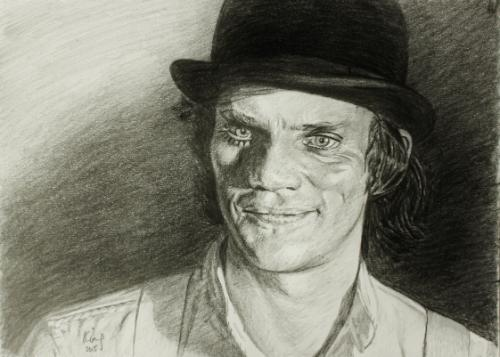 Artwork Malcolm McDowell as Alex