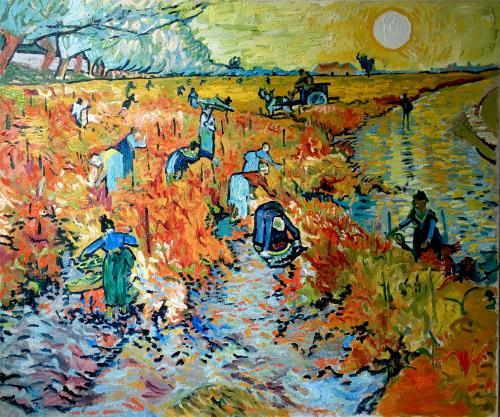Artwork Red Vineyard near Arles