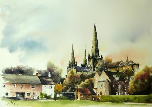 Artwork Lichfield Cathedral.