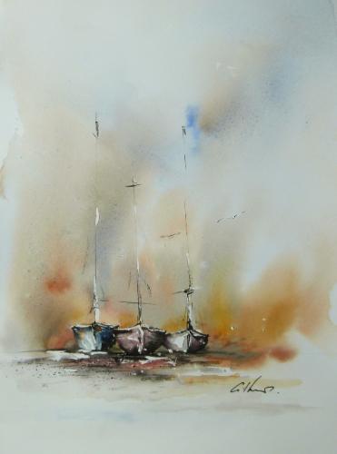 Artwork Three Boats.