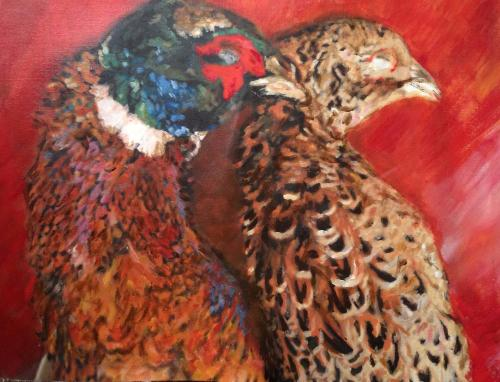 Artwork Winter Pheasants
