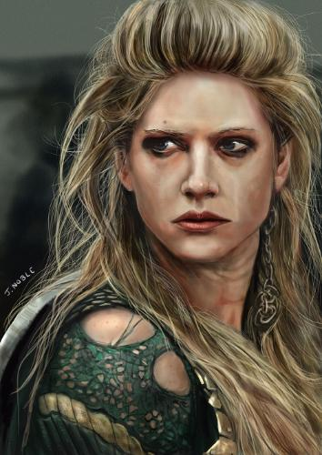 Artwork Lagertha, Vikings print