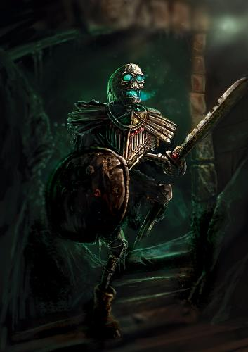 Artwork Skeleton Warrior - Fantasy Art