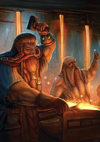 Artwork Dwarf Blacksmith