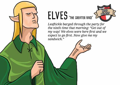 Artwork Fantasy humour - elves
