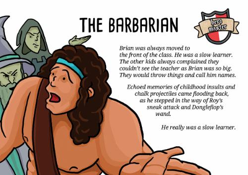 Artwork Fantasy Humour: The Barbarian