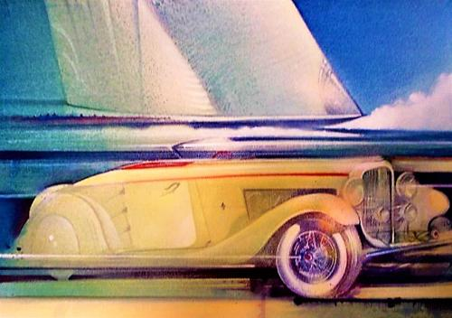 Artwork Sailing past a Duesenberg